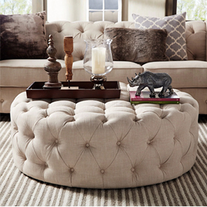 Tufted ottoman from Overstock photo