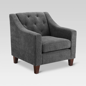 Gray tufted arm chair from Target photo