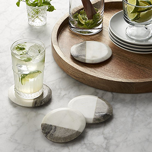 Marble coasters from Crate and Barrel photo