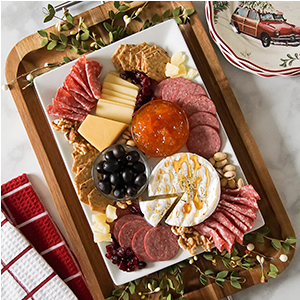 Better Homes & Gardens serving tray with meat and cheese photo
