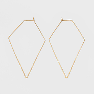 Gold triangle earrings from Target photo