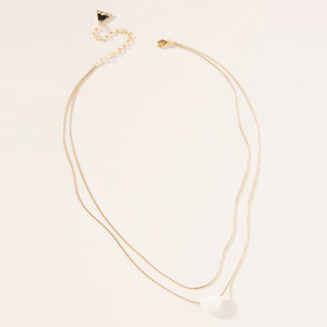 Gold layered necklace wtih a moonstone photo