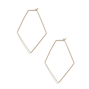 Gold geometric earrings from Nordstrom photo