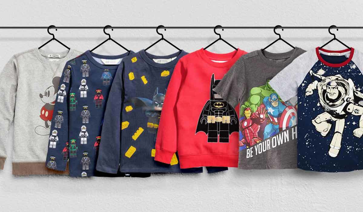 Cartoons & Comics: 7 Shirts & Sweatshirts for Boys
