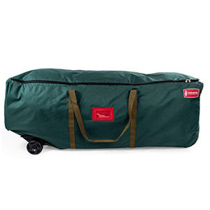 Green duffel bag with wheels from Amazon photo