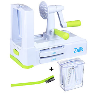 Vegetable spiralizer with different blade sizes. photo