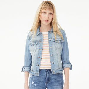 Light wash jean jacket from Aeropostale photo