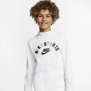 White Nike Sports hoodie for Boys photo