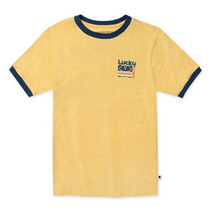Lucky brand yellow graphic tee for boys photo