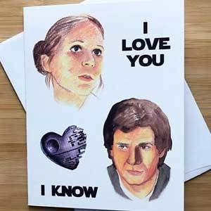 Valentine's Day card with Star Wars theme photo