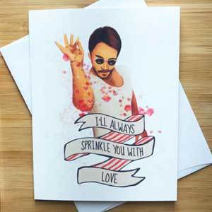 Valentine's card with Saltbae on it photo