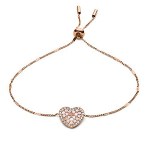 Bracelet with crystal heart from Fossil photo