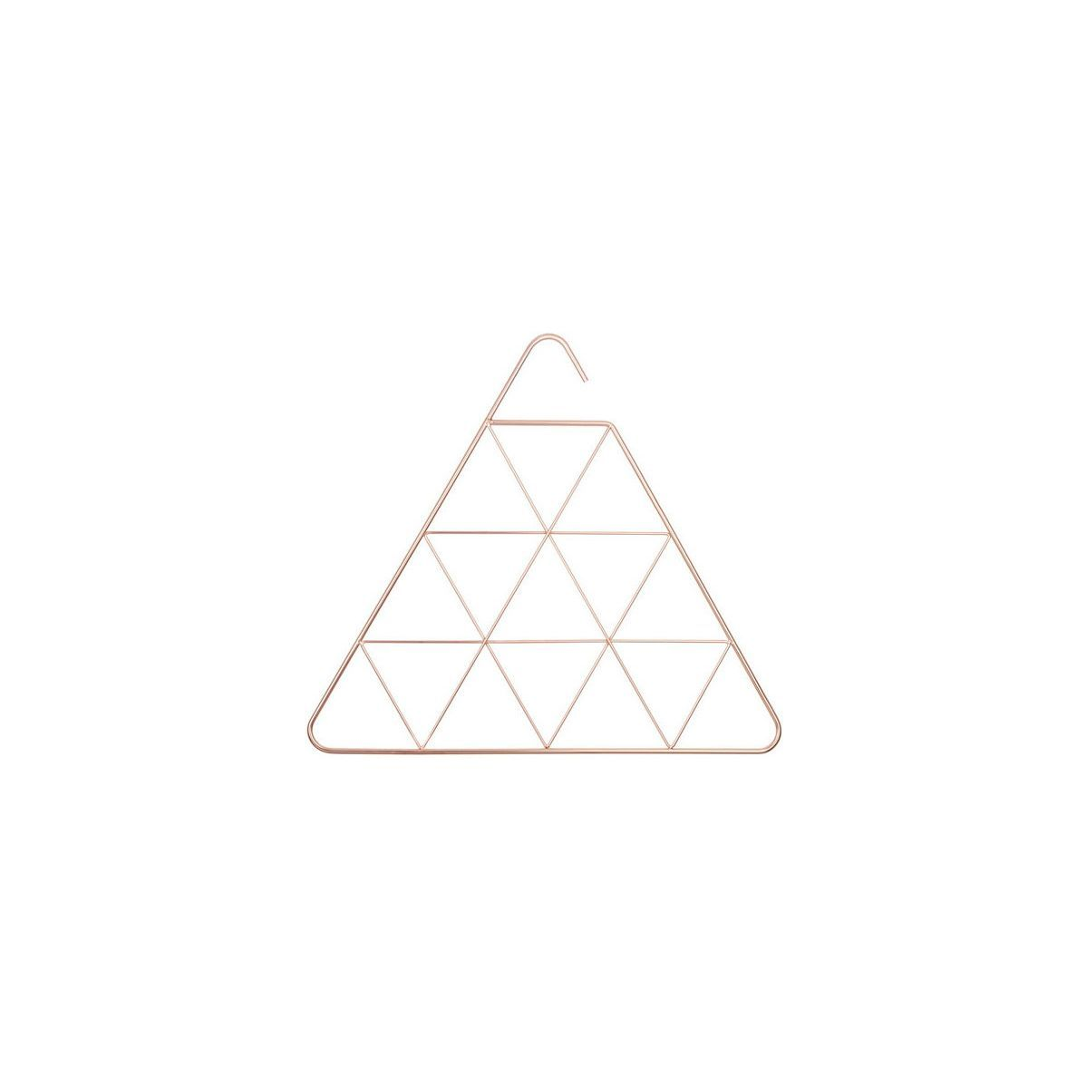 Triangle-shaped scarf organizer with copper finsih photo