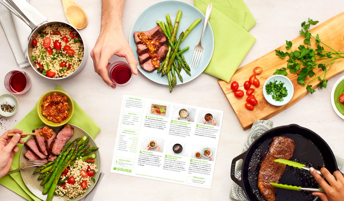 Meal plan from HelloFresh photo