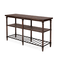 Brown Sofa Table With Rack photo