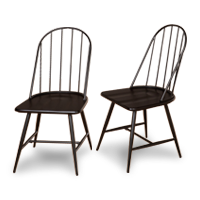 Set of 2 Farmhouse-Style Dining Chairs photo