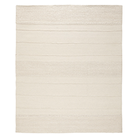 Cream-colored natural wool rug photo