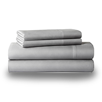Gray colored bed linens photo