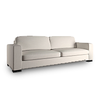 White sofa from Overstock photo