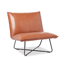 Lounge chair in saddle brown photo