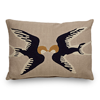 Throw pillow with birds on it photo