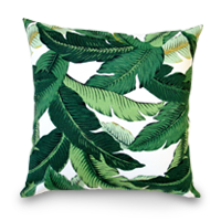 Palm leaf pillow cover photo