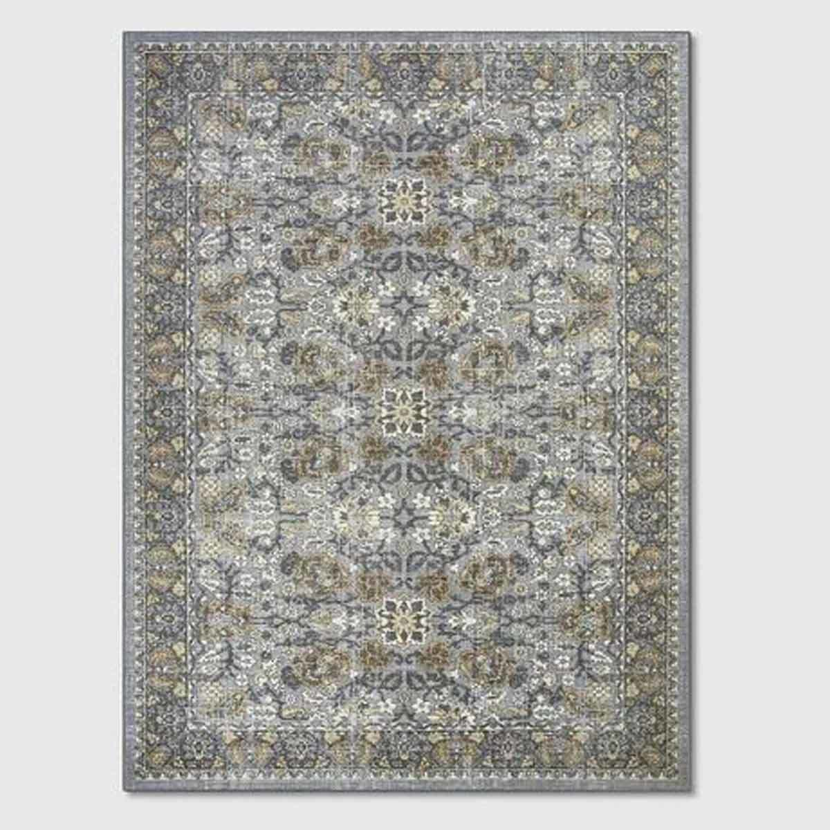 gray patterned rug photo