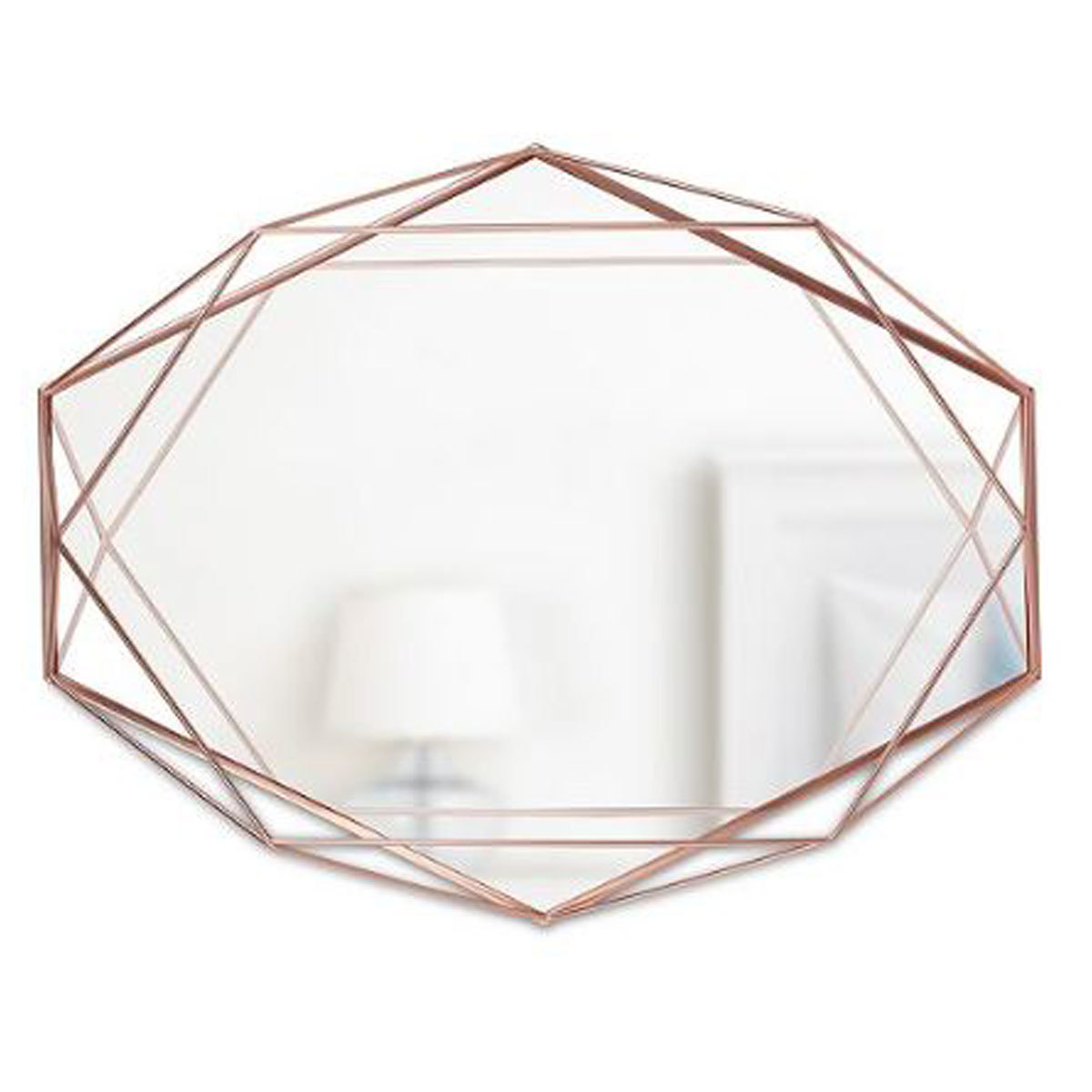 geometric mirror with copper details from Macy's photo