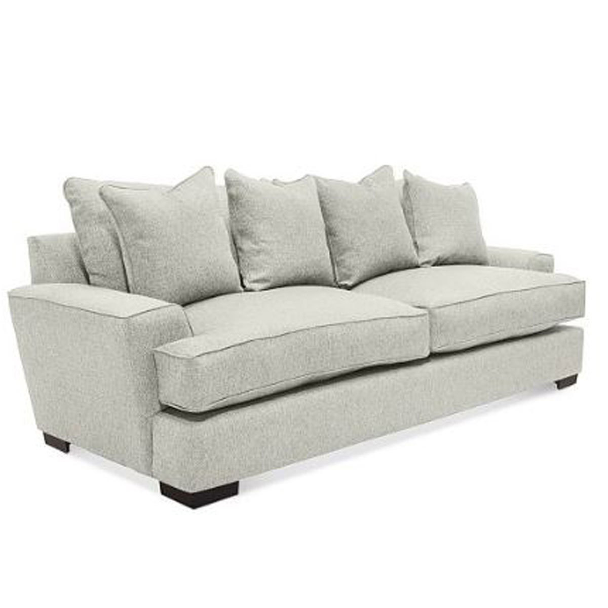 gray sofa with four pillows from Macy's photo