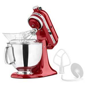 Overstock KitchenAid Artisan Stand Mixer in red photo