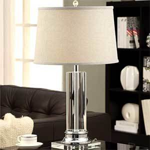 Overstock Crystal Table Lamp photo