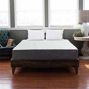 Pine Platform Bed with midcentury style photo