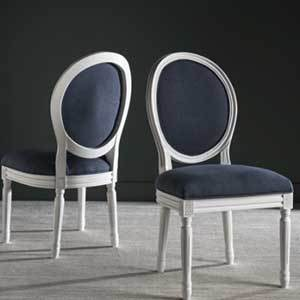 Overstock Navy Side Chairs photo