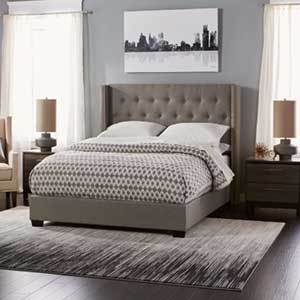 Overstock Upholstered Bed photo