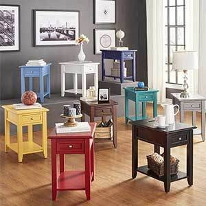 Colorful side tables photo