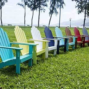 Overstock outdoor adirondack chairs in various colors photo