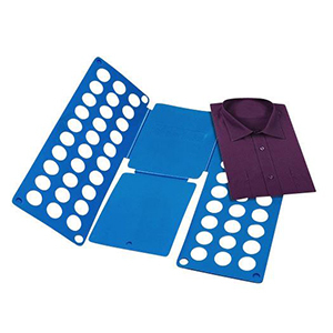 Blue folding board for shirts. photo