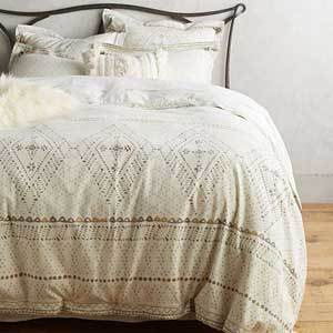 Anthropologie embroidered duvet cover photo