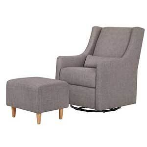 Gray glider chair with ottoman photo