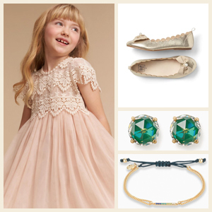Flower girl collage and accessories photo
