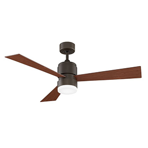 West Elm wood and metal ceiling fan photo
