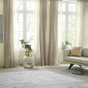 Sheer taupe curtains photo