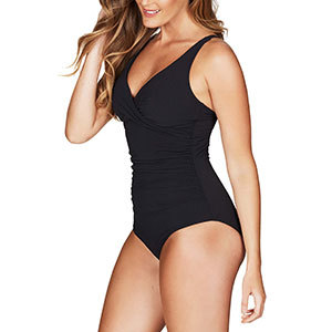 Nordstrom Sea Level Cross Front Multifit One-Piece Swimsuit photo