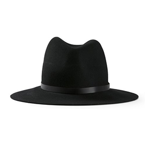 black Rag and Bone wide-brimmed fedora from Farfetch photo