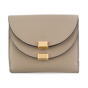 beige and gold Chloe wallet from Farfetch photo