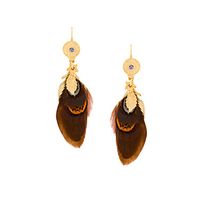 gold and brown earrings from Farfetch photo