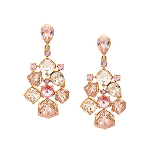 gold rhinestone Oscar De La Renta earrings from Farfetch photo