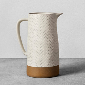 Target Hearth and Hand textured, two-tone stoneware pitcher photo