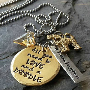 Etsy necklace with personalized saying photo