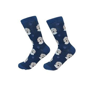 Walmart navy socks with goldendoodles on them photo